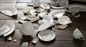 broken dishes