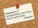 relationship can't heal