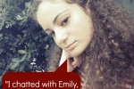 I chatted with Emily, a HopeCoach, and she was so helpful.