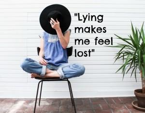 lying loses myself