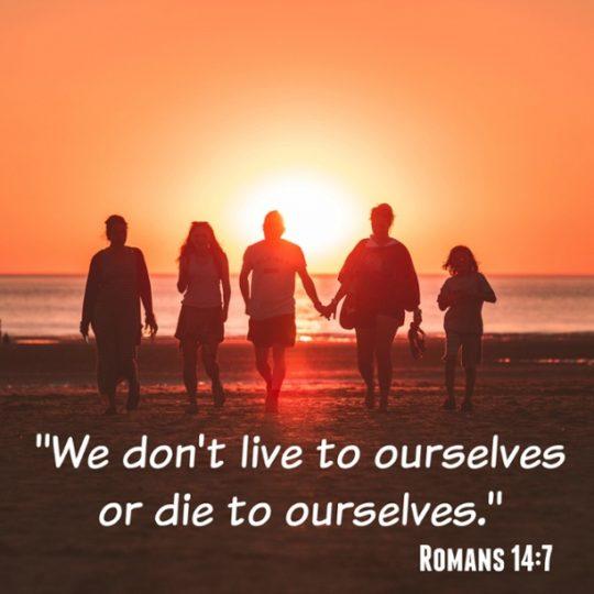 Romans 14:7