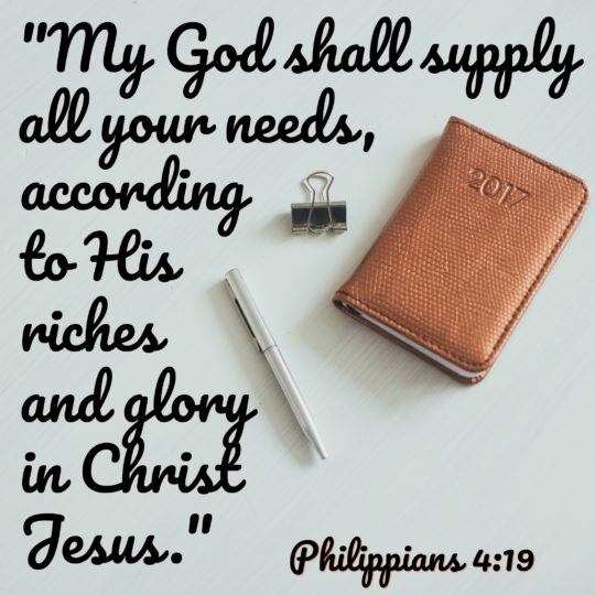 God Supply Needs