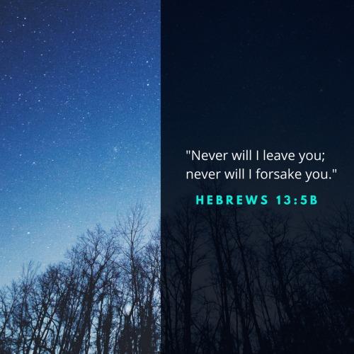 Never will I forsake you